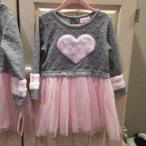 NWT heart Little Lass dress 3T